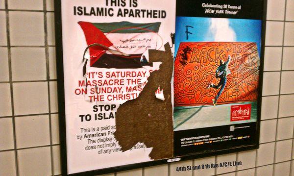 Islamic apartheid deface