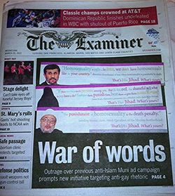 San francisco Examiner front page